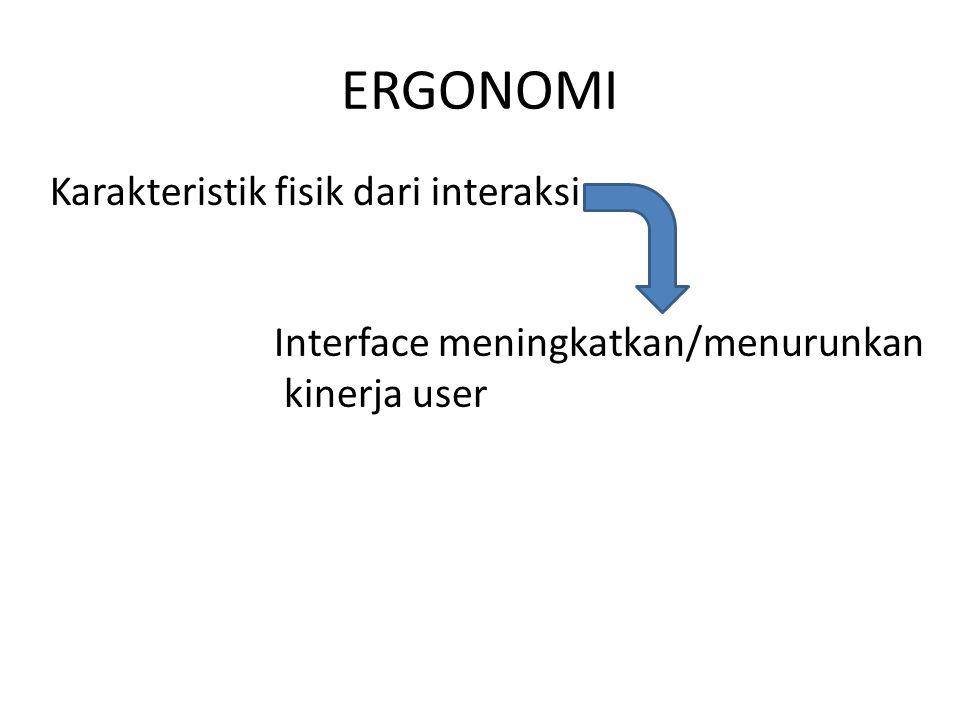 ERGONOMI Karakteristik fisik dari interaksi