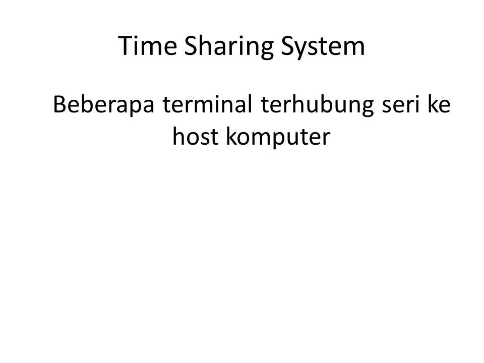 Beberapa terminal terhubung seri ke host komputer