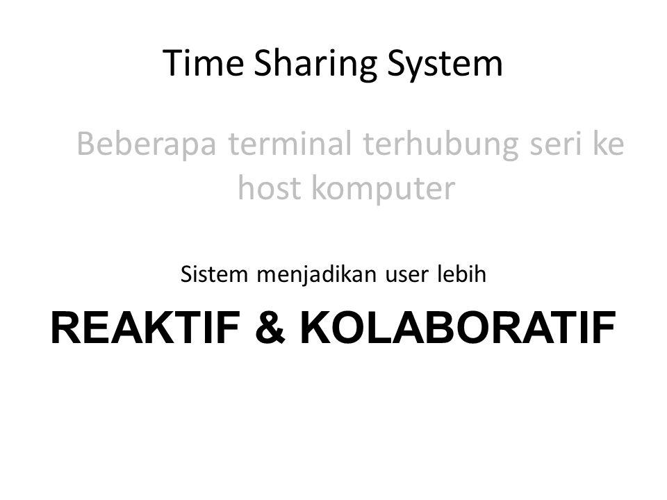 REAKTIF & KOLABORATIF Time Sharing System