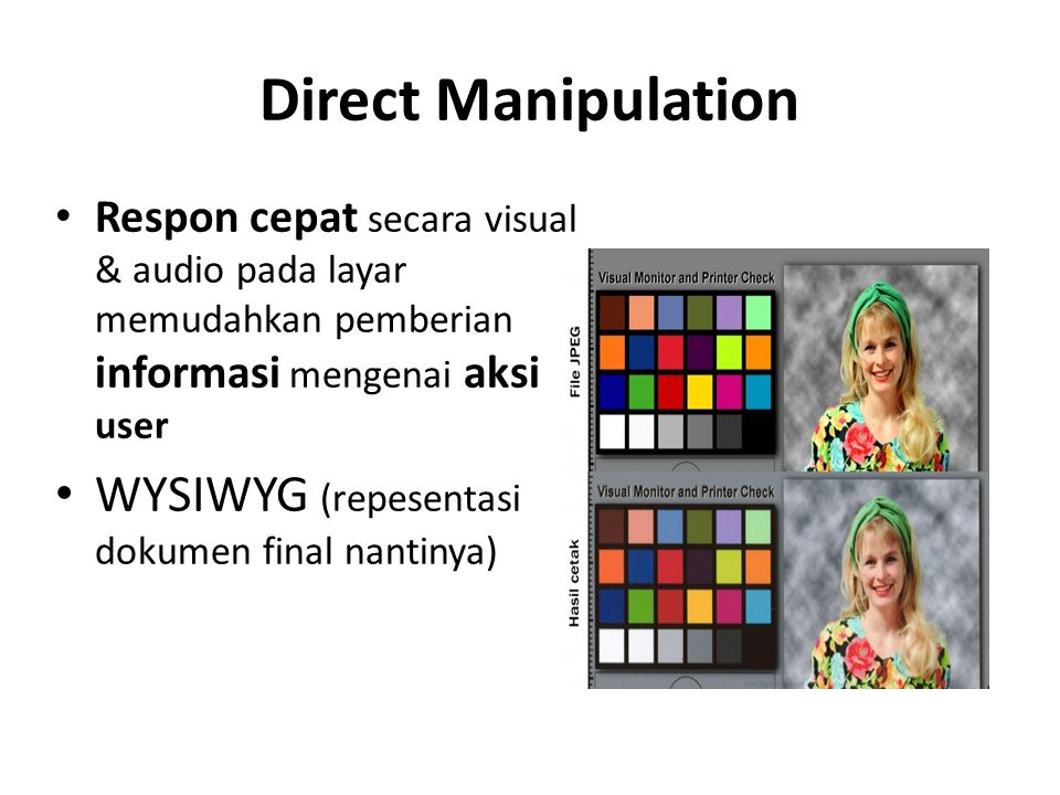 Direct Manipulation WYSIWYG (repesentasi dokumen final nantinya)