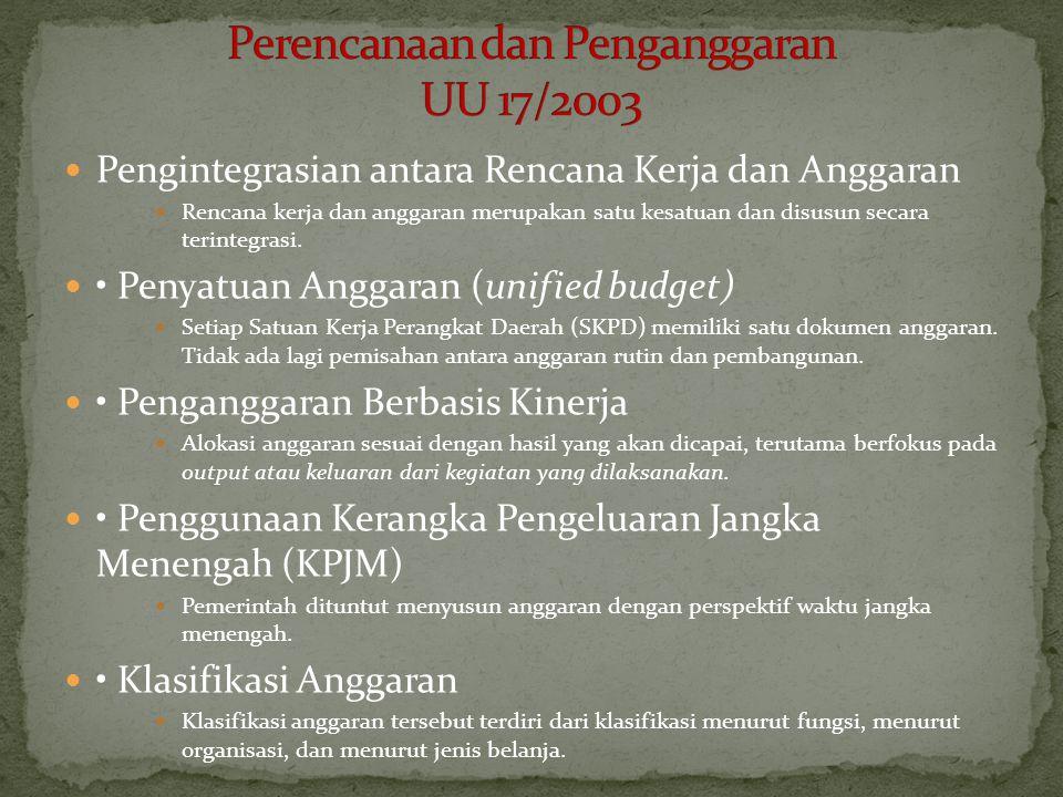 Perencanaan dan Penganggaran UU 17/2003