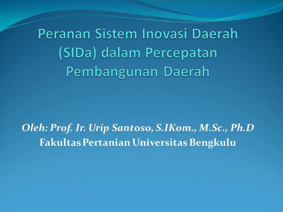 Peranan Sistem Inovasi Daerah (SIDa) dalam Percepatan Pembangunan Daerah