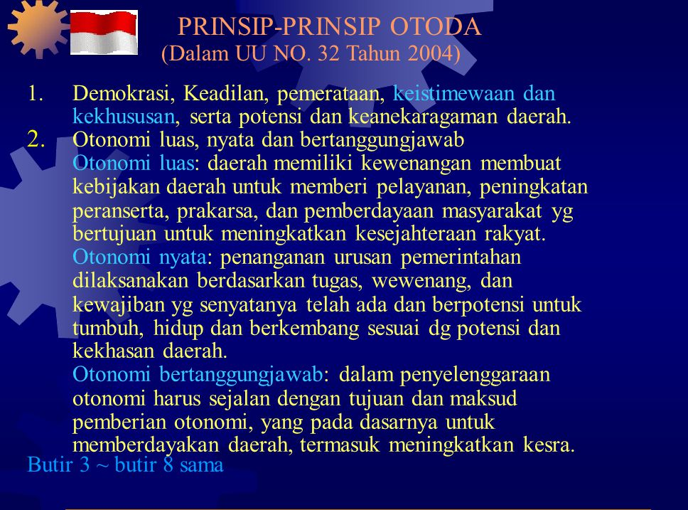 PRINSIP-PRINSIP OTODA