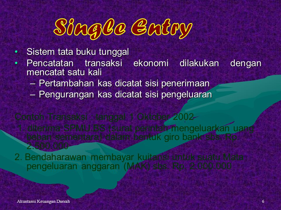 Single Entry Sistem tata buku tunggal