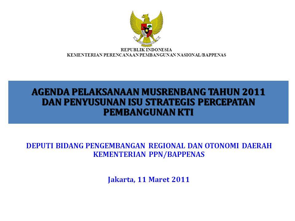 REPUBLIK INDONESIA KEMENTERIAN PERENCANAAN PEMBANGUNAN NASIONAL/BAPPENAS