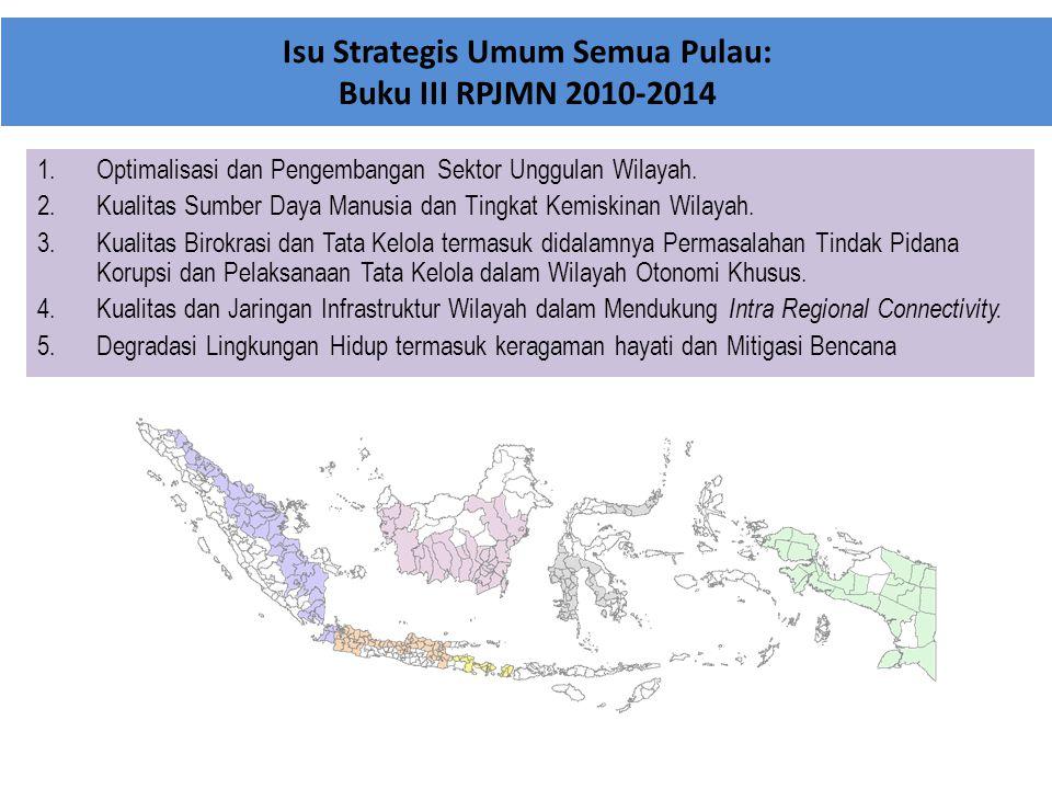 Isu Strategis Umum Semua Pulau: Buku III RPJMN 2010-2014