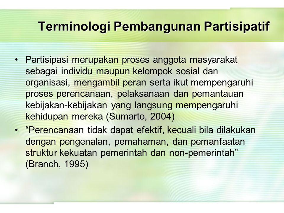 Terminologi Pembangunan Partisipatif