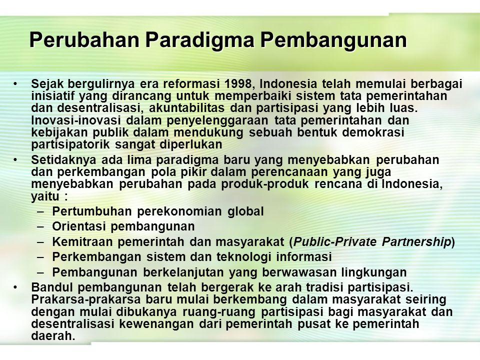 Perubahan Paradigma Pembangunan