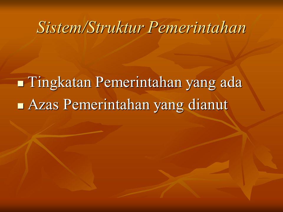 Sistem/Struktur Pemerintahan