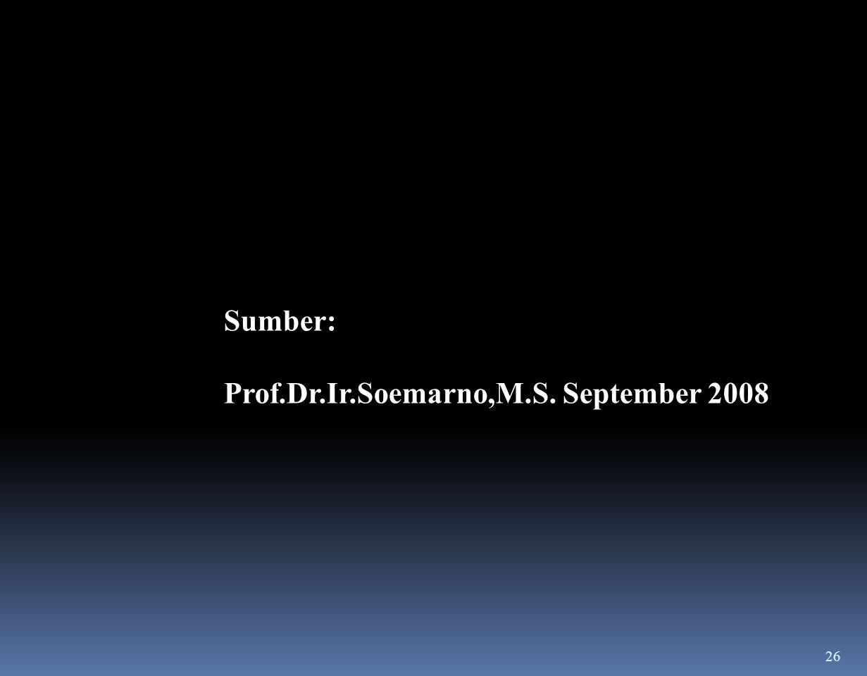 Sumber: Prof.Dr.Ir.Soemarno,M.S. September 2008