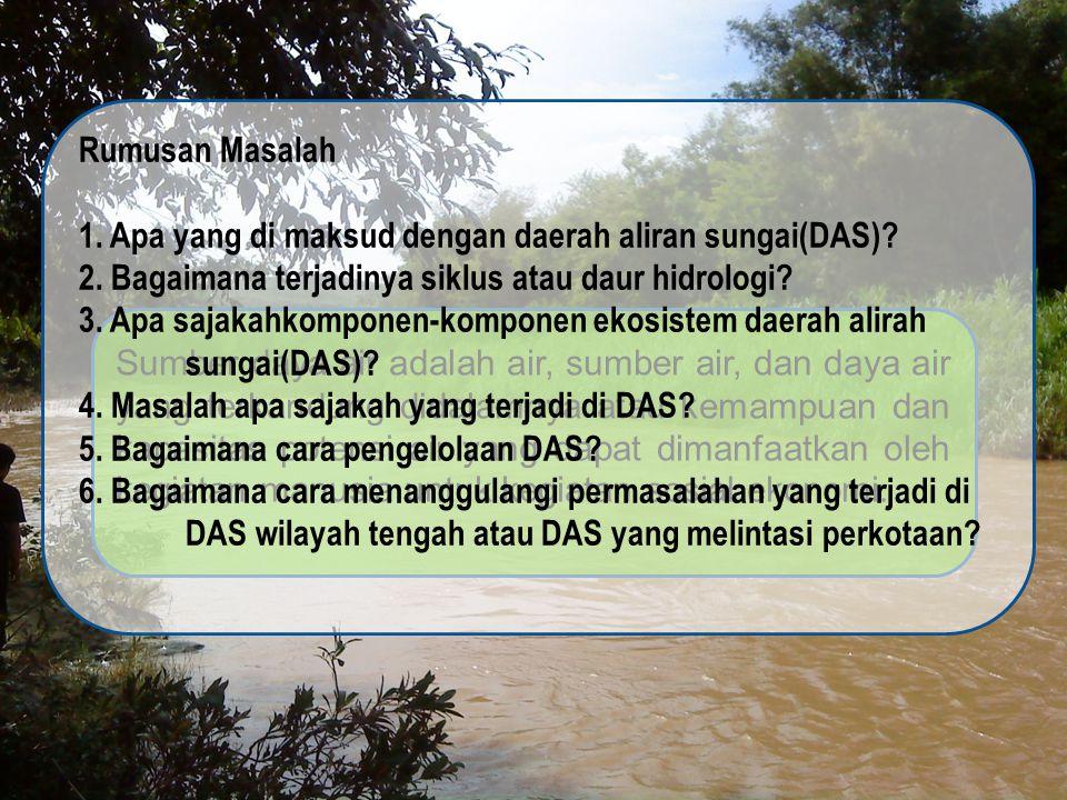 1. Apa yang di maksud dengan daerah aliran sungai(DAS)