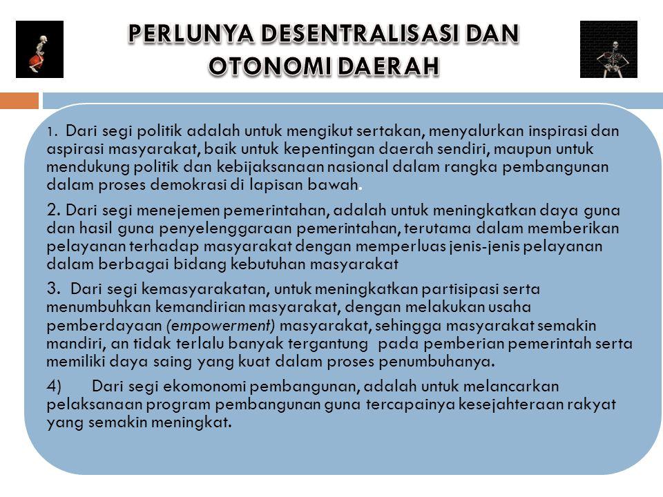 PERLUNYA DESENTRALISASI DAN OTONOMI DAERAH
