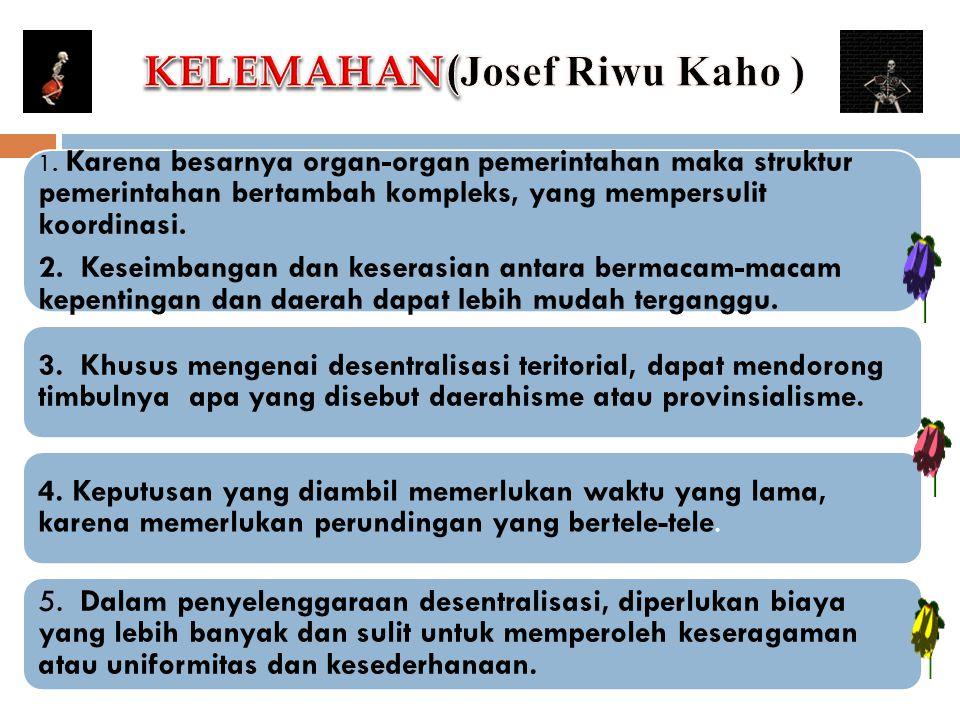 KELEMAHAN(Josef Riwu Kaho )