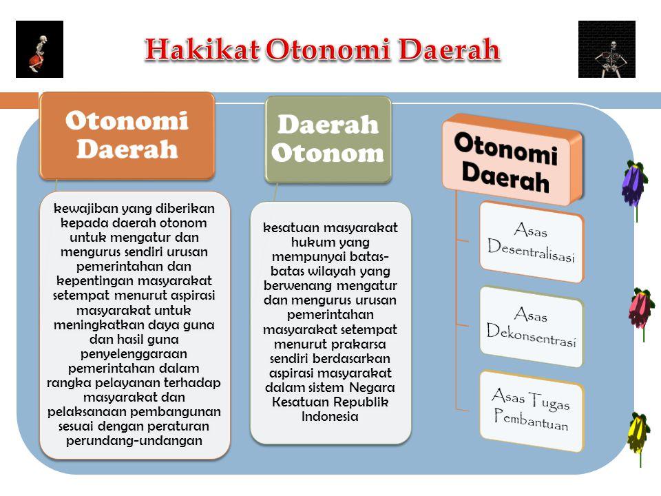 Hakikat Otonomi Daerah