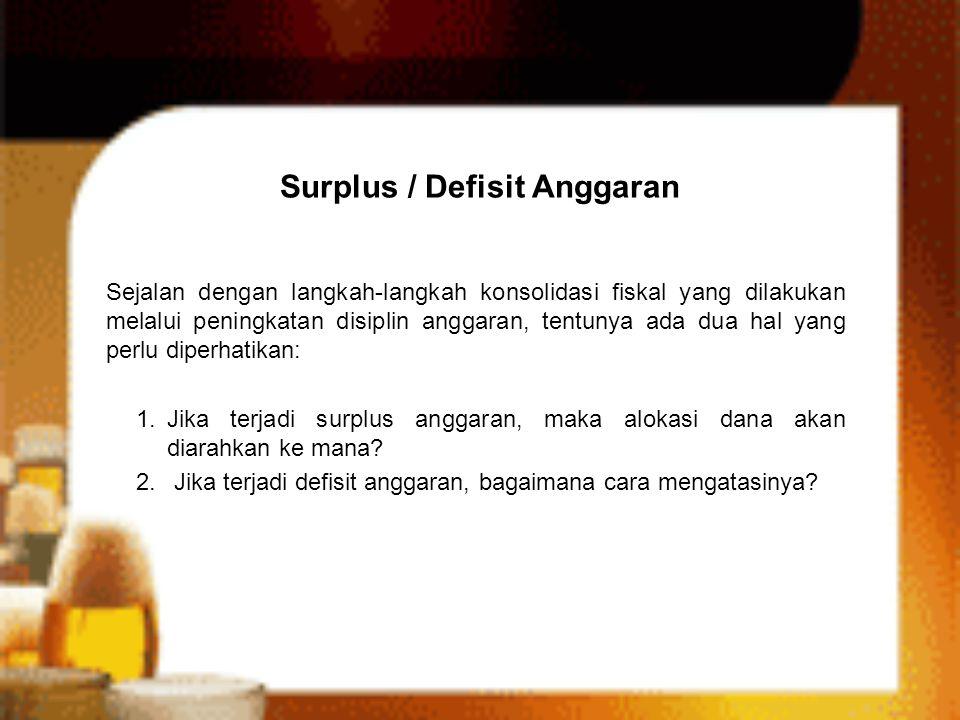 Surplus / Defisit Anggaran