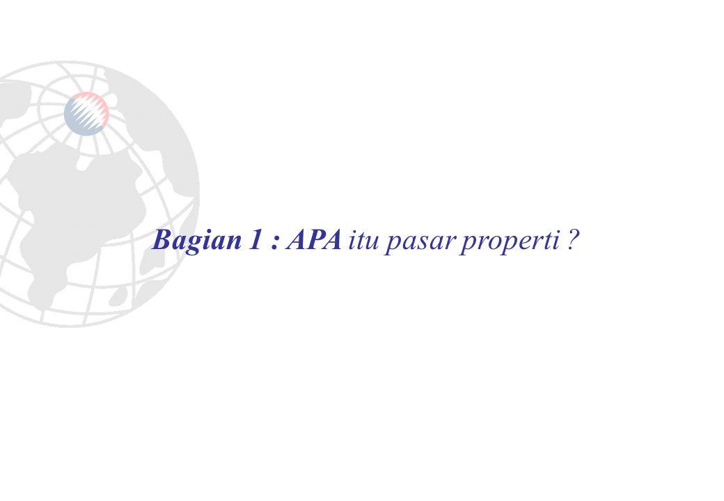 Bagian 1 : APA itu pasar properti