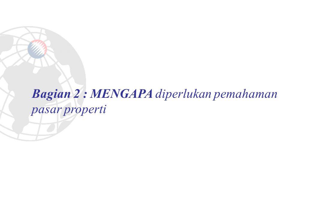 Bagian 2 : MENGAPA diperlukan pemahaman pasar properti