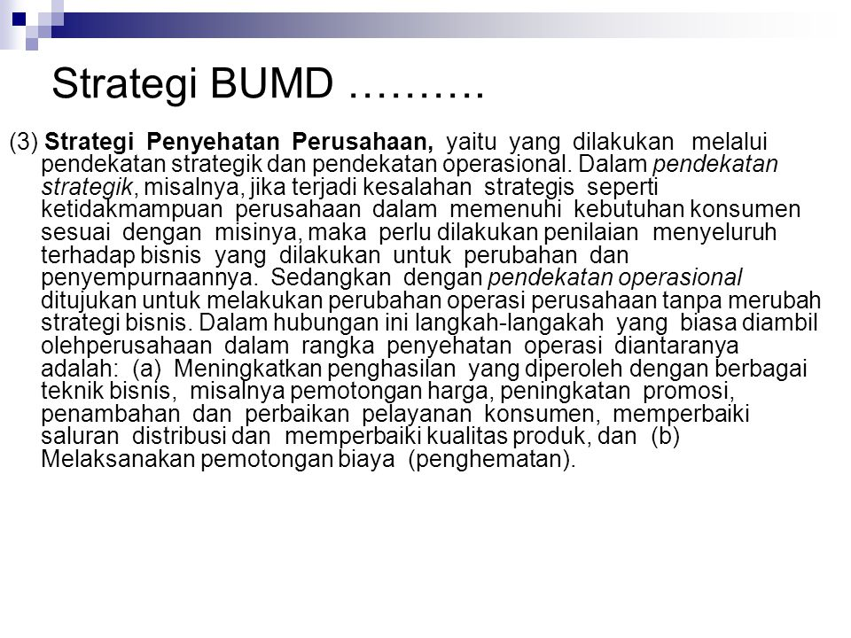 Strategi BUMD ……….