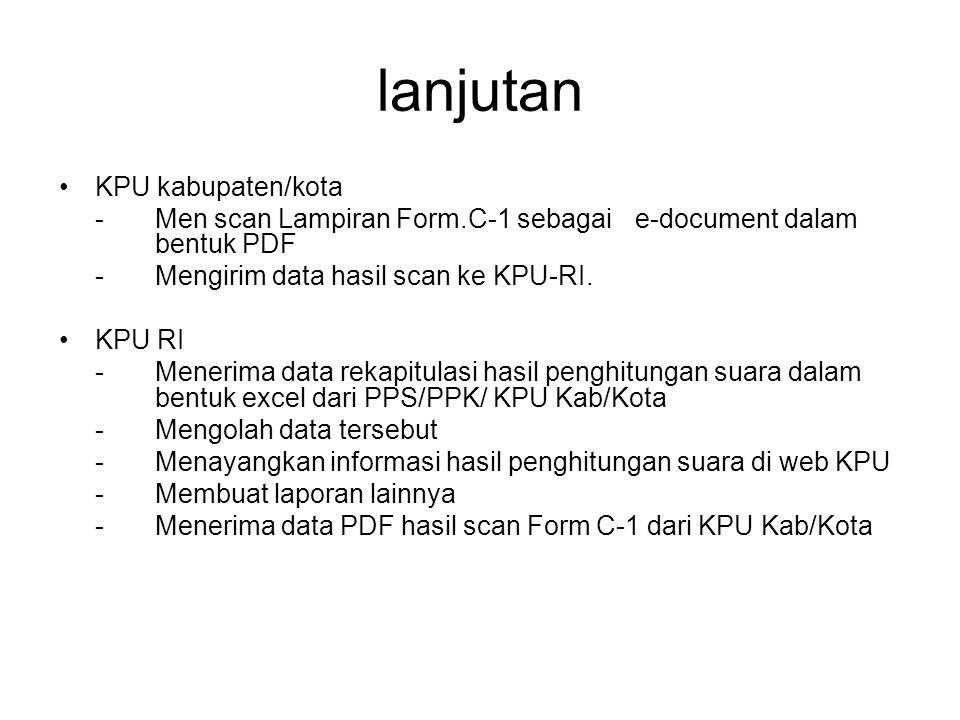 lanjutan KPU kabupaten/kota