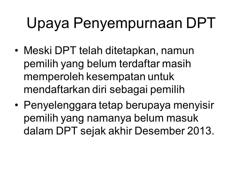 Upaya Penyempurnaan DPT