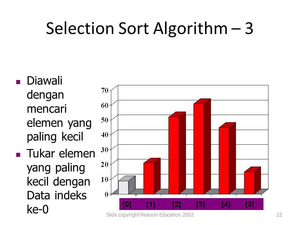 Selection Sort Algorithm – 3