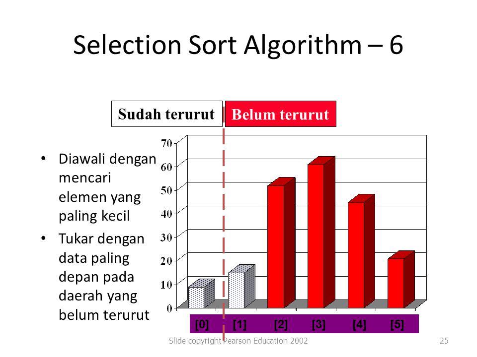 Selection Sort Algorithm – 6