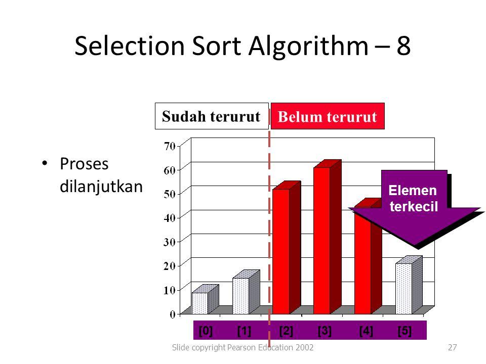Selection Sort Algorithm – 8
