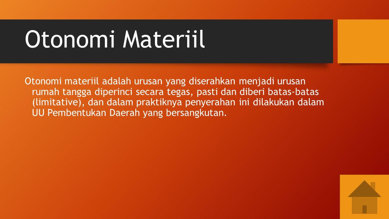 Otonomi Materiil