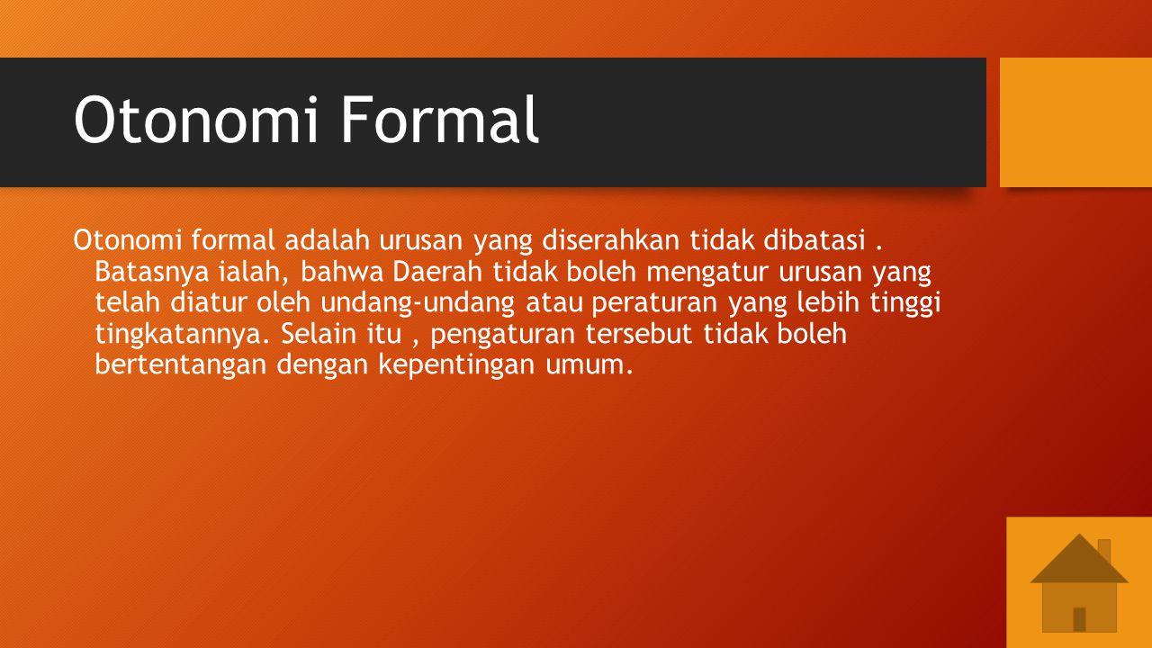 Otonomi Formal