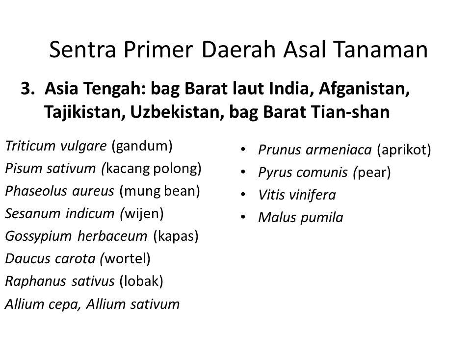 Sentra Primer Daerah Asal Tanaman