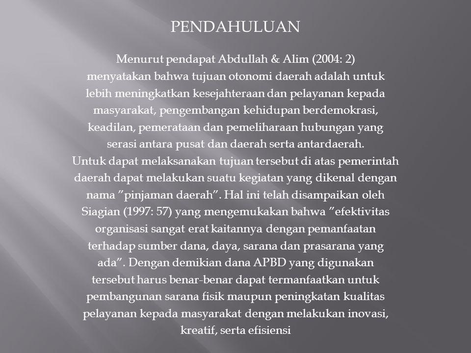PENDAHULUAN Menurut pendapat Abdullah & Alim (2004: 2)
