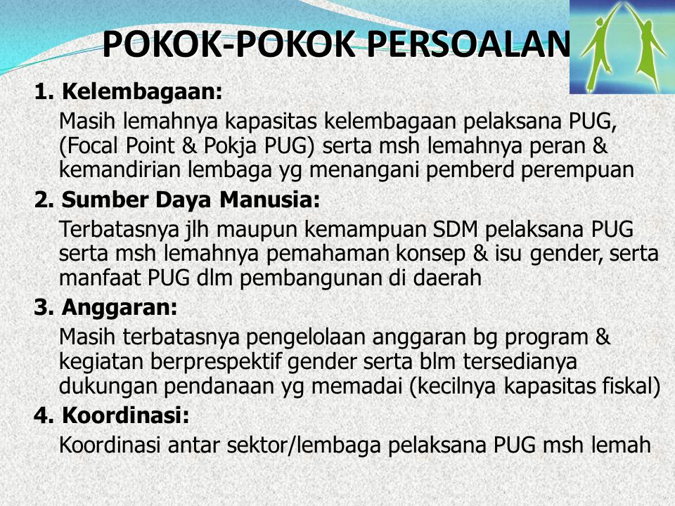 POKOK-POKOK PERSOALAN
