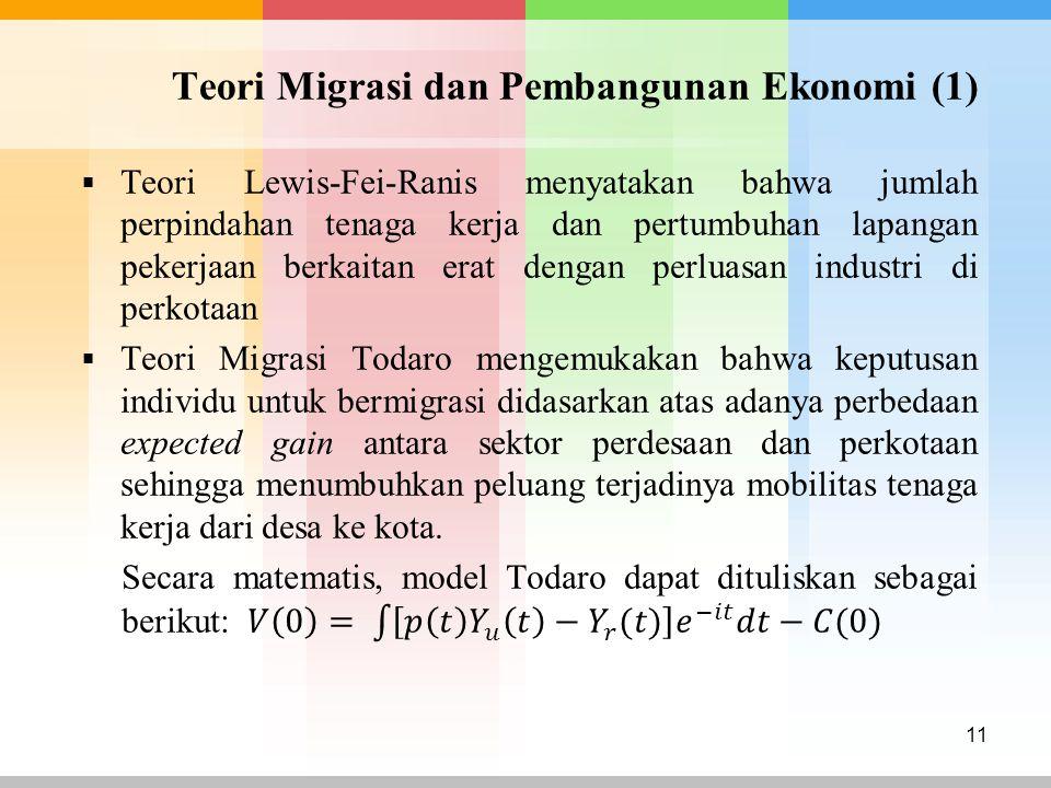 Teori Migrasi dan Pembangunan Ekonomi (1)