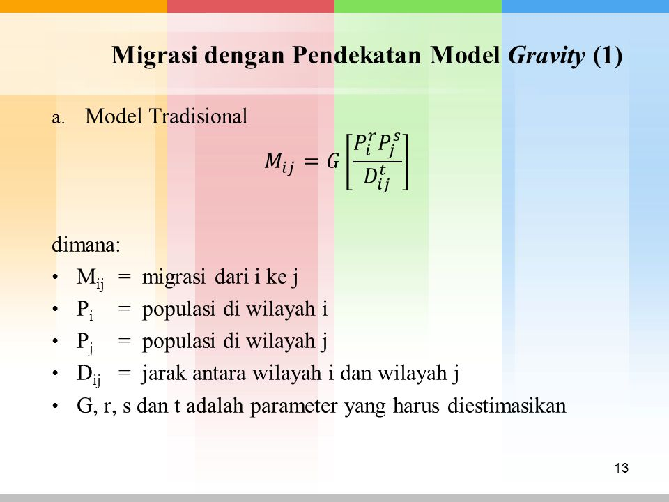 Migrasi dengan Pendekatan Model Gravity (1)