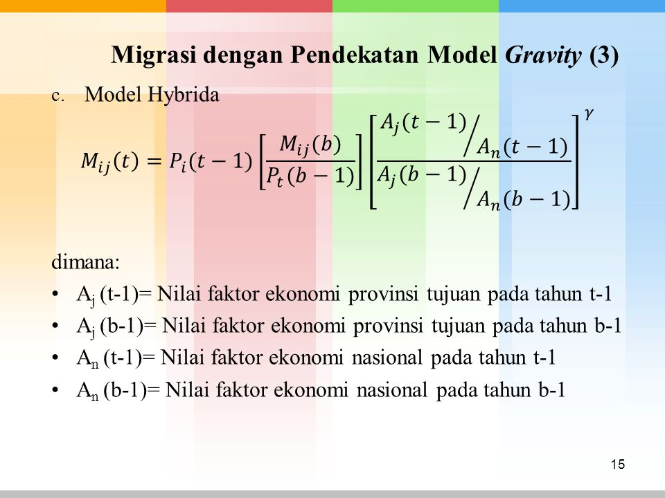 Migrasi dengan Pendekatan Model Gravity (3)