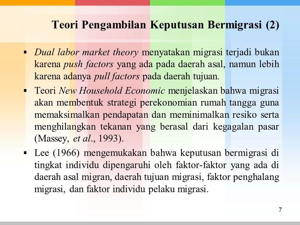 Teori Pengambilan Keputusan Bermigrasi (2)
