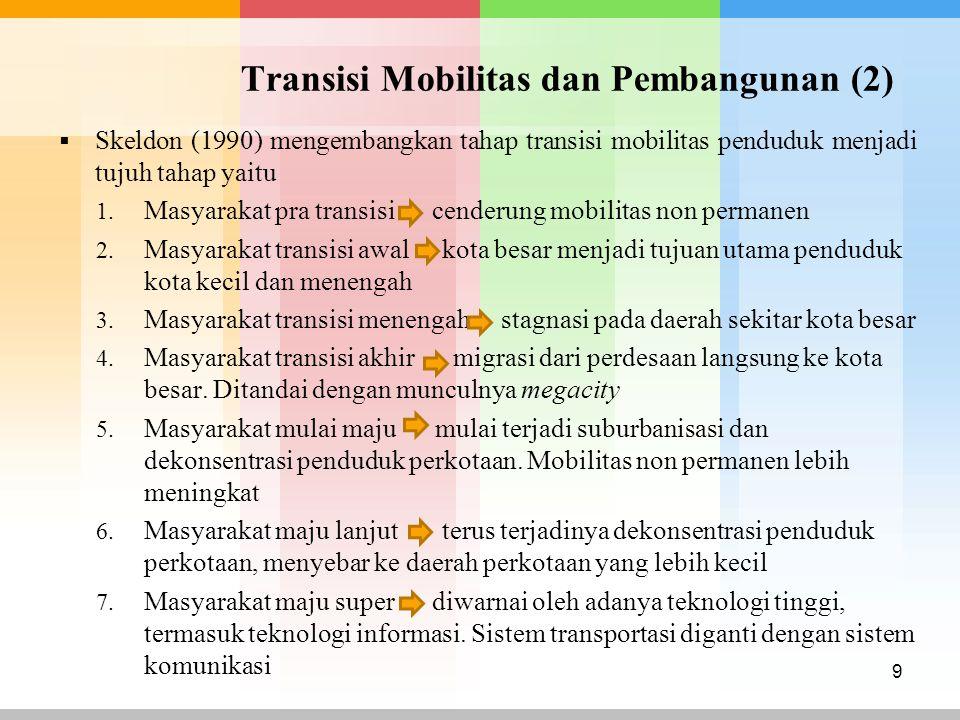 Transisi Mobilitas dan Pembangunan (2)