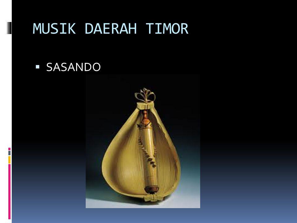 MUSIK DAERAH TIMOR SASANDO