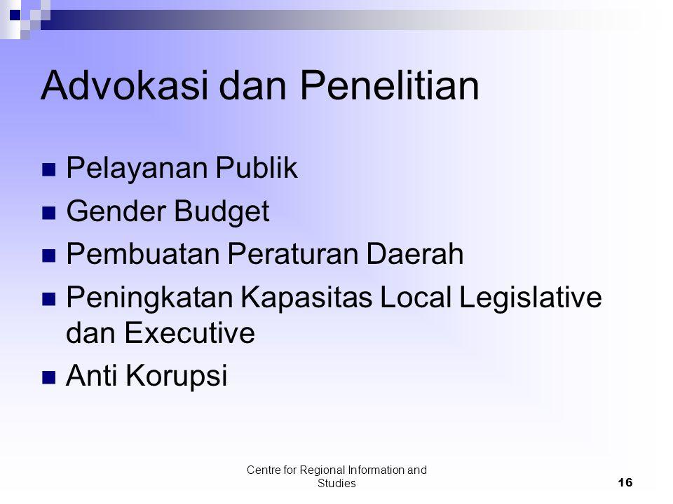 Advokasi dan Penelitian