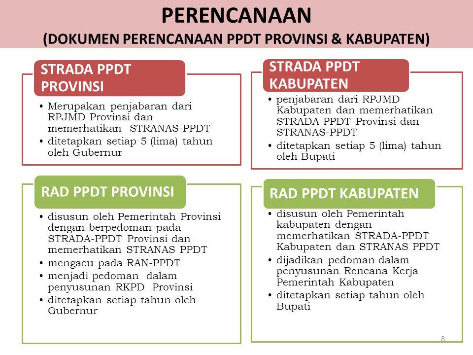 PERENCANAAN (DOKUMEN PERENCANAAN PPDT PROVINSI & KABUPATEN)