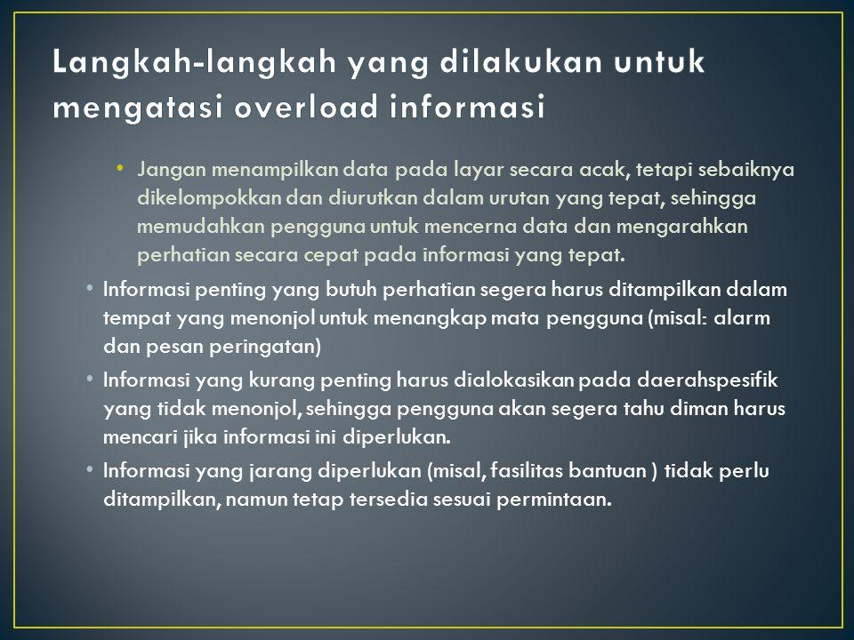 Langkah-langkah yang dilakukan untuk mengatasi overload informasi