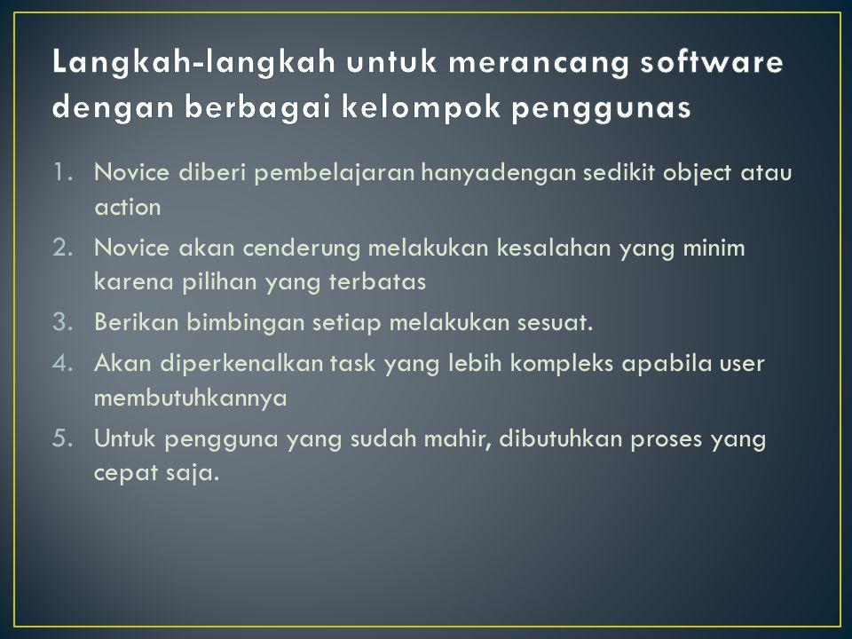 Langkah-langkah untuk merancang software dengan berbagai kelompok penggunas