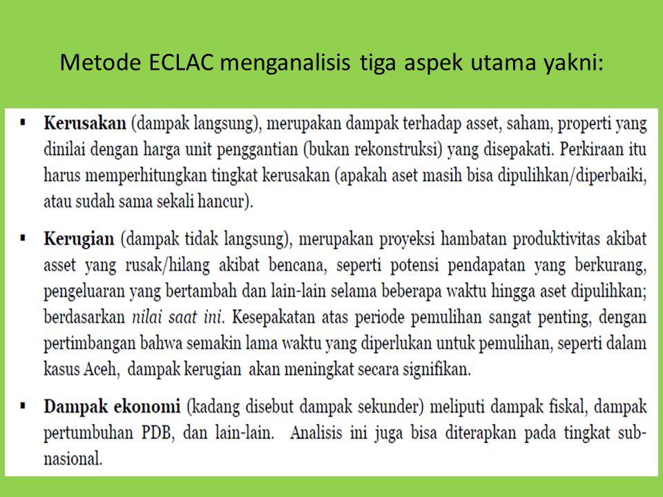 Metode ECLAC menganalisis tiga aspek utama yakni: