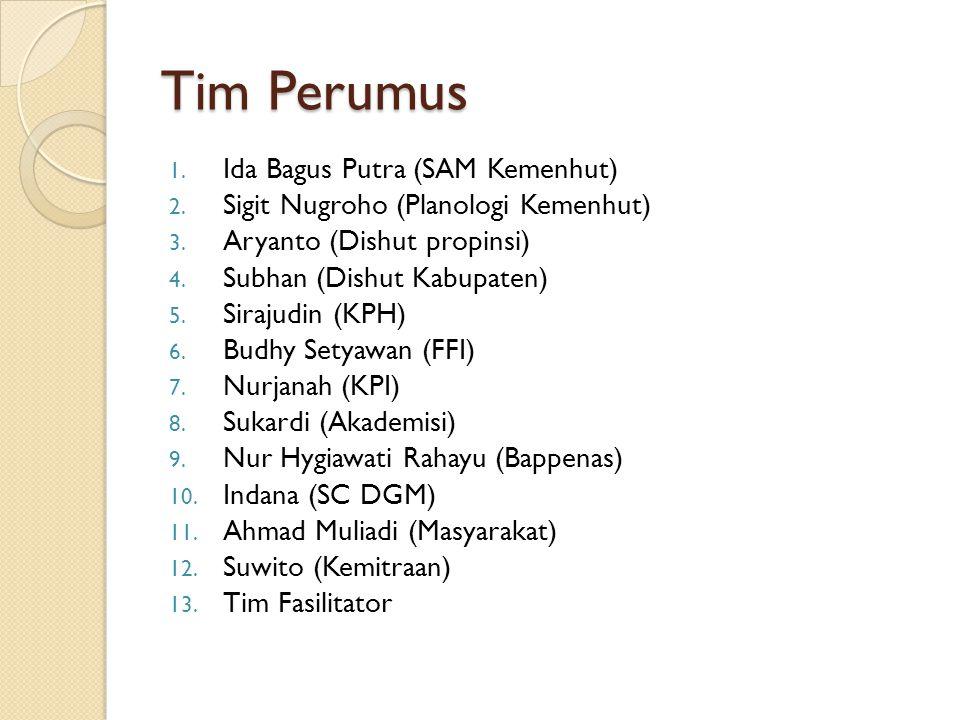 Tim Perumus Ida Bagus Putra (SAM Kemenhut)