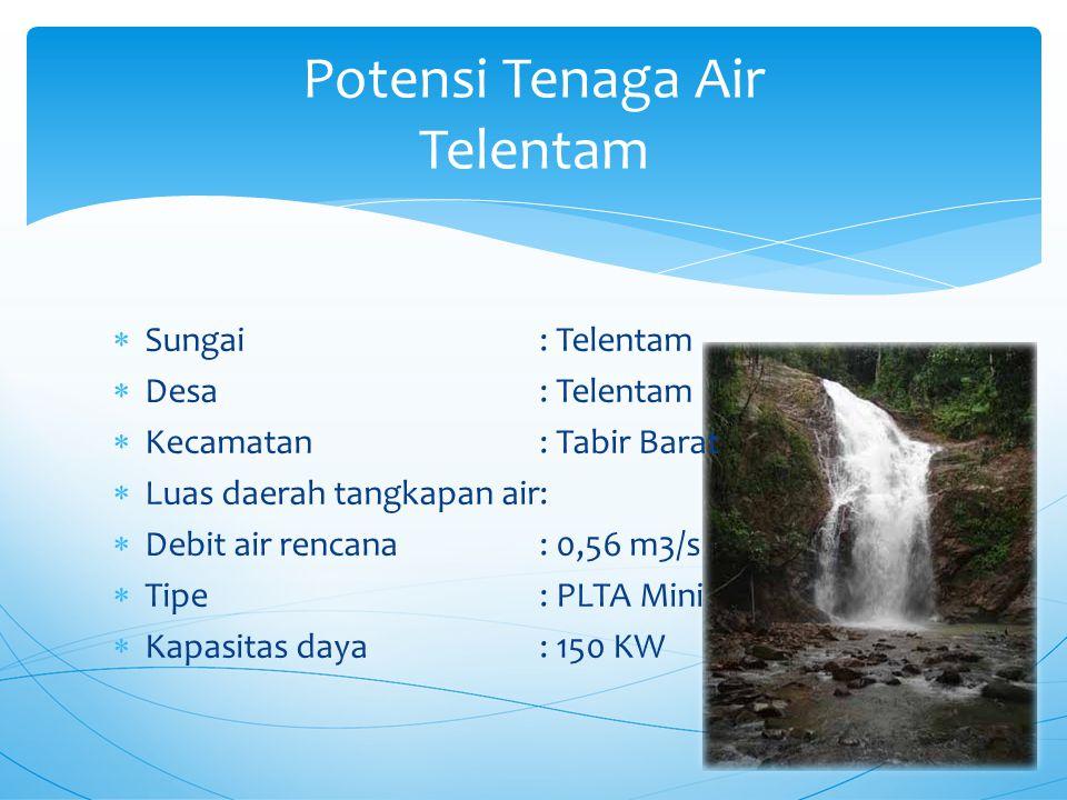 Potensi Tenaga Air Telentam