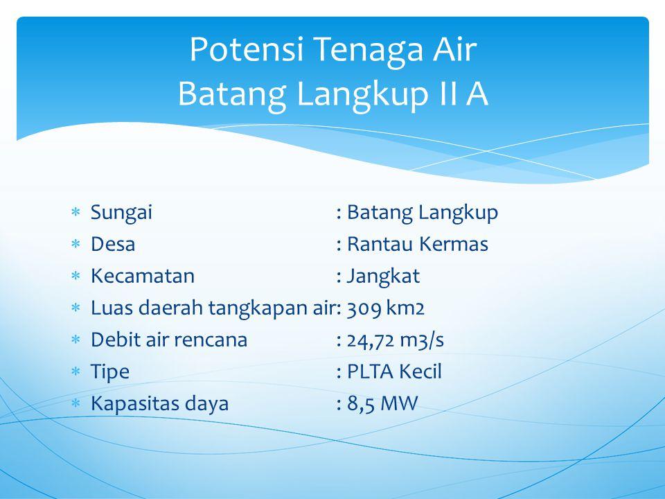 Potensi Tenaga Air Batang Langkup II A