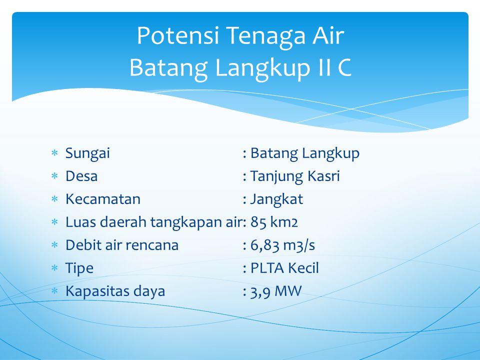 Potensi Tenaga Air Batang Langkup II C
