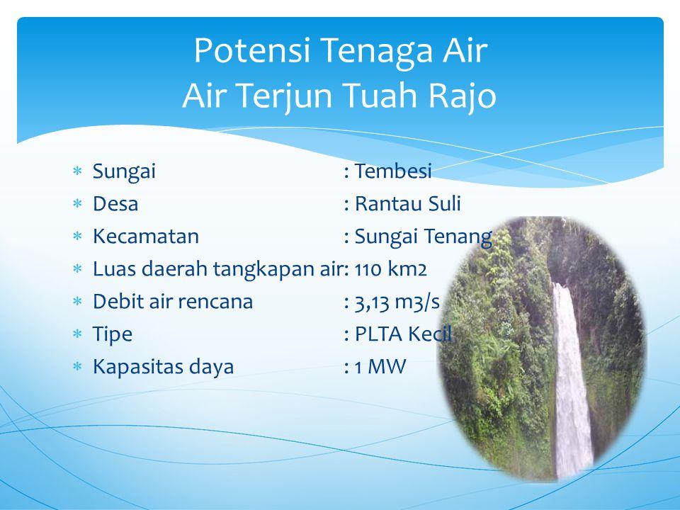 Potensi Tenaga Air Air Terjun Tuah Rajo