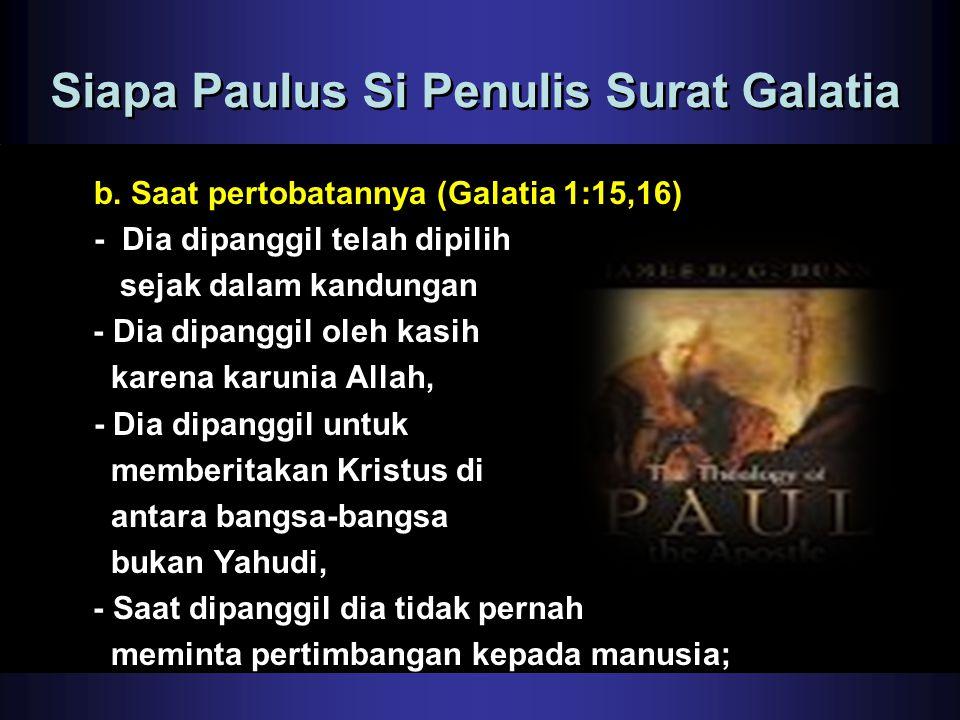 Siapa Paulus Si Penulis Surat Galatia