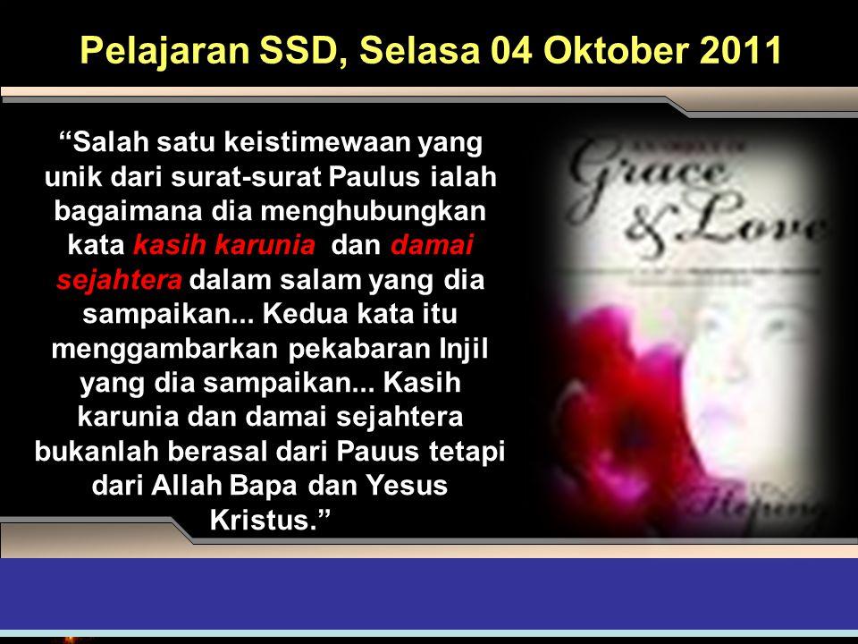 Pelajaran SSD, Selasa 04 Oktober 2011